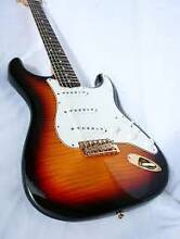 Squier Stratocaster Deluxe Custom Shop Flamed Maple Top by Fender Woolloongabba Brisbane South West Preview