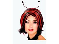 LADYBIRD FANCY DRESS WIG GREAT FOR CHRISTMAS OR NEW YEARS PARTY