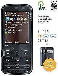 Unlocked Nokia N79 used in Mint Shape and has Chinese Text