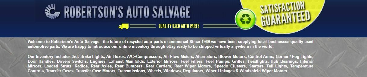 Robertson Auto Salvage Used Parts
