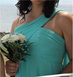 Bridesmaid Dress In Turquoise Blue - 40$
