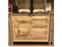 Old cream wood burning Aga