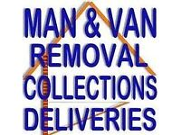 MAN AND A VAN. Removal Single item to House moves. Man with Van.