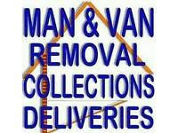 Man and van hire house removals,office relocate,furniture assmebly,paino delivery,waste collect
