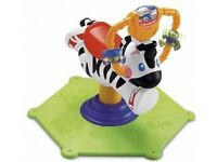 Bounce and spin zebra with music