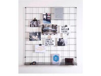 Wire mesh notice board