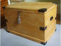 Gorgeous Pine Kist/Blanket Box - with a touch of history