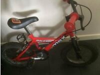 14IN RALEIGH MOUNTAIN BIKE AS NEW