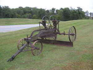 Old Pull Type Grader