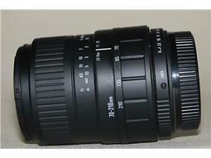 sigma AF 70 210 telephoto lens for canon