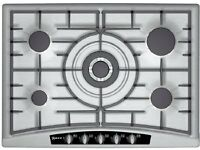 NEFF Gas Hob Stainless Steel 5 Ring Hob 700mm wide