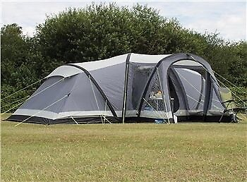 K&a Daymer 8 man air tent. family tent with 4 x 2 berth sleeping area & Kampa Daymer 8 man air tent. family tent with 4 x 2 berth sleeping ...