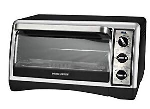 BLACK+DECKER 6 Slice 12-Inch Pizza Convection Toaster Oven