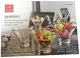 Bormioli Rocco Ypsilon Boxed 8 Multi Purpose Dishes Bowls .