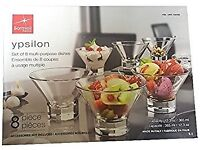 Bormioli Rocco Ypsilon Boxed 8 Multi Purpose Dishes Bowls .
