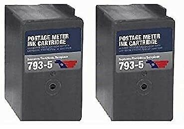 2-pack Pitney Bowes Compatible 793-5 Red Ink Cartridge