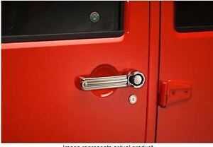 Exterior Door Handle Cover; Chrome Plated; ABS Plastic; With Dri