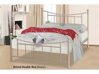 IVORY SMALL DOUBLE 4FT BED