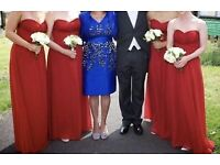Red/maroon bridesmaid/prom dress (not pink - dodgy photo)