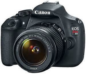 Canon EOS Rebel T5 18MP DSLR Camera EF-S 18-55mm IS II Lens New