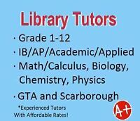 Scarborough Tutor:Gr. 1-12, Math,Physics,Chemistry,Economics,Bio
