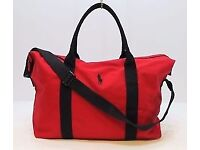 RALPH LAUREN POLO RED DESIGNER PONY WEEKEND/DUFFEL/TRAVEL/SPORT/GYM/HOLDALL BAG