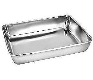 Large Pure Stainless steel baking dish or pan for use in oven