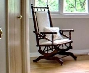 Platform Rocker, Brass Bed, Wing Chair
