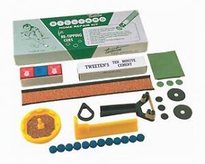 Pool Cue Tip Repair Kit - Tweeten Glue, Sander, Tips, etc.