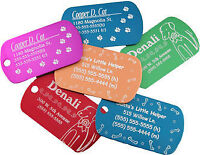 Custom Personalized Laser Engraved ID Pet Tags