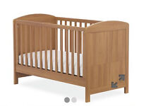 Mothercare Padstow Cotbed Oak and Anti Allergy Matress