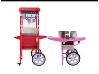 Popcorn machine and candy floss machine