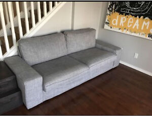 Hardly Been Used Grey Couch