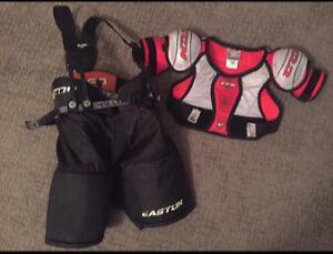 Easton hockey pants & CCM shoulder pads -YOUTH
