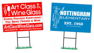 12 Lawn Signs, Outdoor Coroplast 4mm, Full colour