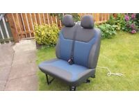 2001-2014 Vivaro / Trafic / Primastar front double seat with seat belts