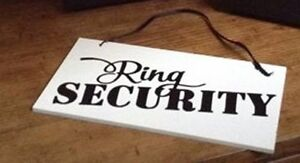 RING SECURITY - WEDDING SIGN