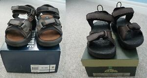 Brand New Dark Brown Sandals - Size 2 - 2 Styles