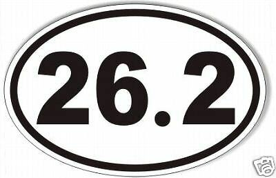 ( 26.2 oval marathon sticker,decal, running, runner,  99 cents!)