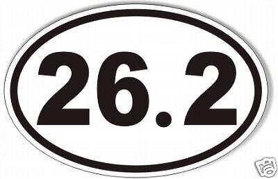 ( 26.2 oval marathon sticker,decal, running, runner,  99 cents!)