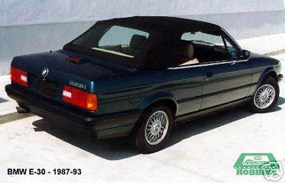 BMW 325i, 320i, 318i, Model E30 Convertible Top 1987-93