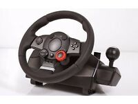 logitech Driving Force GT racing wheel and pedals