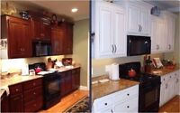 Kitchen Update By Refinishing cabinets