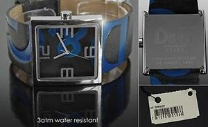 D&G Watch, RARE  Black and Blue Logo Leather Strap DW0037 Windsor Region Ontario image 2