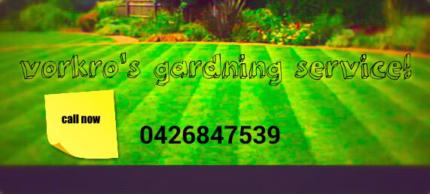 Vorkros gardening service.