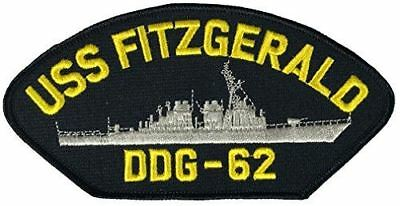 USS FITZGERALD DDG-62 PATCH USN NAVY SHIP ARLEIGH BURKE CLASS DESTROYER CRASH