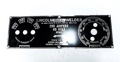Lincoln Sa-200 Short Hood Faceplate Bw685