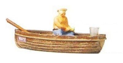 Preiser OO/HO Gauge Angler in Boat Plastic Figures 28052