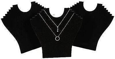 3 Black 9 Velvet Necklace Pendant Jewelry Displays