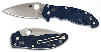 SPYDERCO Manix 2 Satin Plain S110V Blade Dark Blue FRN Handles C101PDBL2 *NEW*